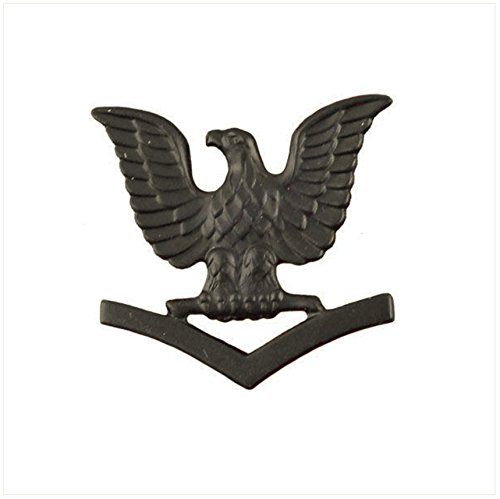 Vanguard NAVY CAP DEVICE: E4 PETTY OFFICER THIRD CLASS - BLACK METAL