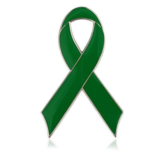 (CMajor Awareness Green Ribbon Enamel Lapel Pins)