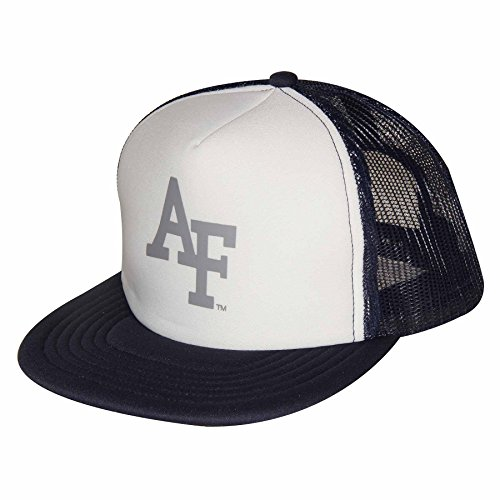 NCAA Air Force Falcons Foam Front Mesh Back Trucker Cap, Adjustable Size, White/Navy