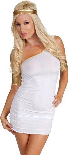 Sexy Heroine Costume Greek Toga mini Dress Large]()