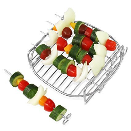 Airfryer Double Layer Rack XL with 5 Skewers