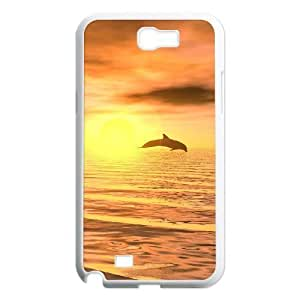 Dolphins Wholesale DIY Cell Phone Case Cover for Samsung Galaxy Note 2 N7100, Dolphins Galaxy Note 2 N7100 Phone Case