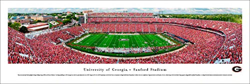 Georgia Bulldogs Football - Unframed Poster by Blakeway Panoramas