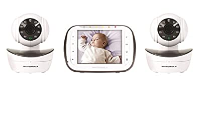 Motorola Digital Video Baby Monitor with 2 Cameras, 3.5 Inch Color Video Screen, Infrared Night Vision, with Camera Pan, Tilt, and Zoom by Motorola