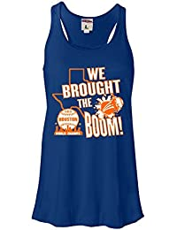 Womens We Brought The Boom Houston World Champs Flowy Racerback Tank Top T-Shirt