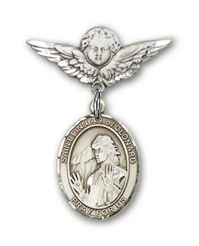 Icecarats Créatrice De Bijoux En Argent Sterling St. Finnian De La Broche Badge Clonard Charme D'Ange 7/8 X 3/4