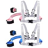 Blisstime 2 in 1 Toddler Leash -Anti Lost Wrist Link for Toddlers-Toddler Harness,Baby Leash,Leash for Toddlers,Wrist Leashes,Child Leashes for Toddlers,Not Easy to Open Without Key