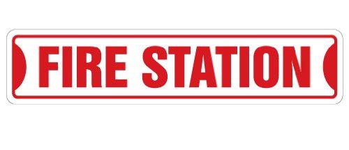 FIRE STATION Street Sign firefighter house fireman trucks cook| Indoor/Outdoor |18