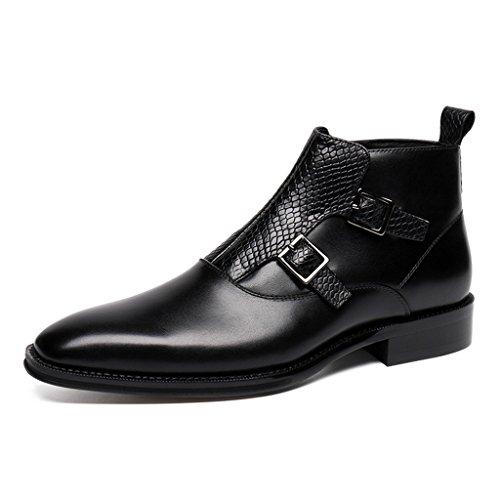 Hombres Zapatos de Zapatos Martin para de Tamaño de para EU39 Británico Marrón Botas Piel a de Hombre Cuero Moda Tacón Alto Zapatos Negro Estilo UK6 la Color Clásicos rrqaWv8Zz