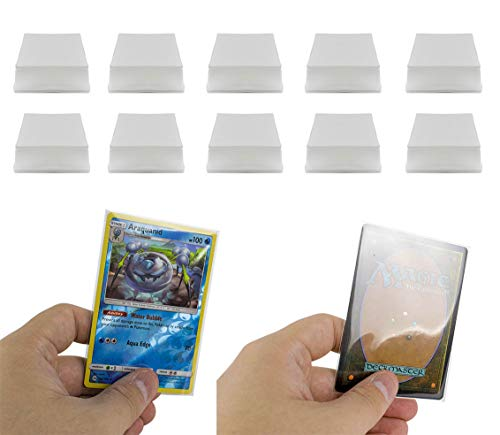 (DeElf 1000 Clear Card Sleeves 66mm x 91mm for Pokemon Card, MTG Card, Exploding Kittens, Cards Against Humanity, Bad People, and Unstable Unicorn)