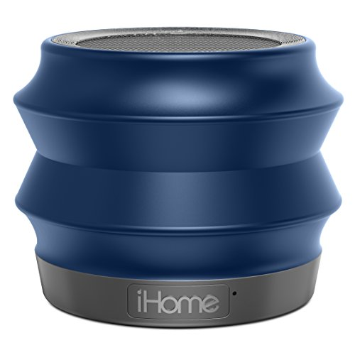 iHome iBT61BC Portable Collapsible Bluetooth Speaker with Speakerphone - Featuring Melody, Voice Powered Music Assistant - Blue (Best Voice Assistant Speaker)
