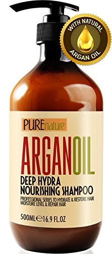 Moroccan Argan Oil Shampoo SLS Sulfate Free Organic - Best for Damaged, Dry, Curly or Frizzy Hair - Thickening for Fine/Thin Hair, Safe for Color and Keratin Treated Hair (Best Shampoo For Thin Dry Frizzy Hair)