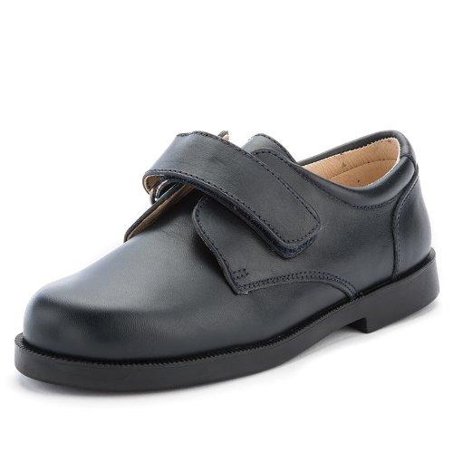bf2dbb70a Zapato Colegial Escolares Niño Velcro - Color   Azul Marino - Talla   39   Amazon.es  Zapatos y complementos
