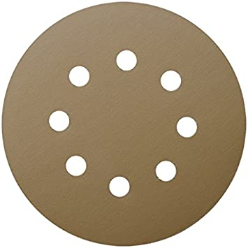 5 inch 6 Holes 320-Grits Hook and Loop Sanding Discs for Orbital Sander 5pcs