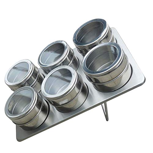 ❤SU&YU❤Stainless Steel Seasoning Jar Creative Kitchen Pepper Salt Sugar Flavoring - Texas Canister Kitchen Star