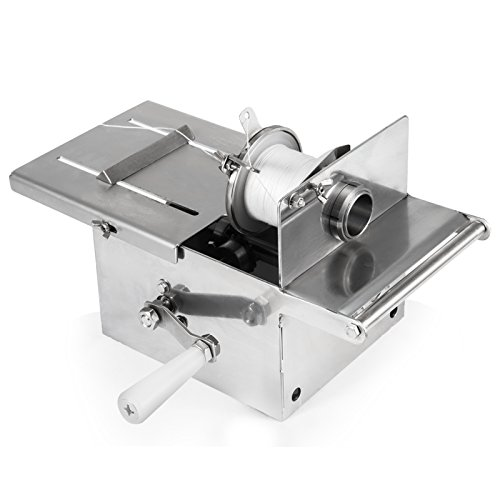 Happybuy Manual Sausage tying knotting machine 42mm Handle Sausage casings binding machine stainless steel for commercial home use (42mm with 2pcs Twine)