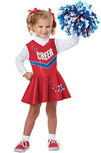 Classic Cheerleader Toddler Costumes (Pep Rally Classic Cheerleader Toddler Costume - Red)
