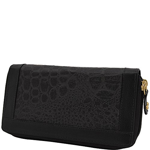 great-american-leatherworks-double-zip-around-clutch-black