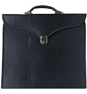 d485c95961 Masonic Regalia MM WM Apron File Case (Hard Handle Black) MB001