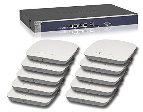 NETGEAR ProSAFE WC7600 Wireless LAN Controller & 10 x NETGEAR ProSAFE WAC720 Business 2x2 Dual Band 802.11ac Wireless Access Point Bundle by NETGEAR