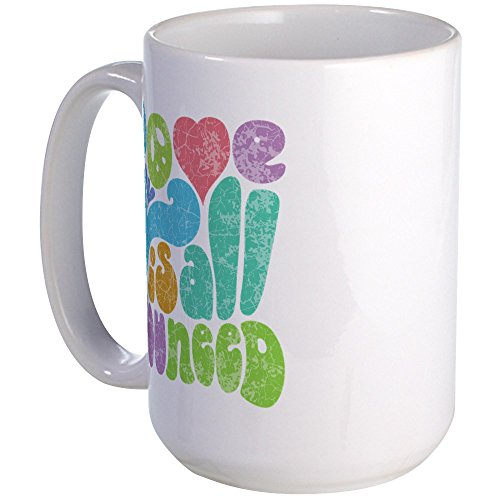 CafePress Love Is All II Large Mug Coffee Mug, Large 15 oz. White Coffee Cup