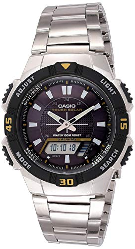 Casio Men s AQS800WD-1EV Slim Solar Multi-Function Analog-Digital Watch