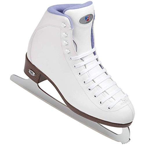 Riedell 113 Sparkle/Womens Beginner Soft Figure Ice Skates/Color: White and Violet/Size: 10