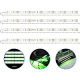 PryEU Green (515-525nm) LED Strip Lights 12V Waterproof for Auto Car Truck Boat Motorcycle Interior Lighting 12'' 30CM…