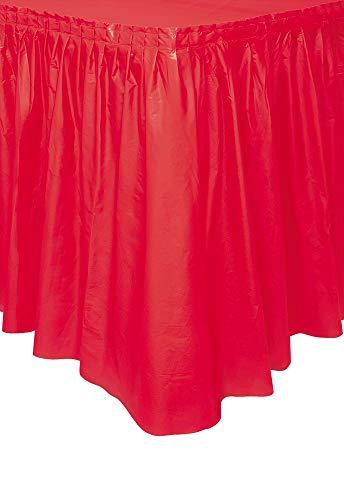 Red Plastic Table Skirt, 29