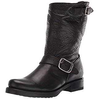 FRYE Women's Veronica Short Ankle Boot, black, 9 M US