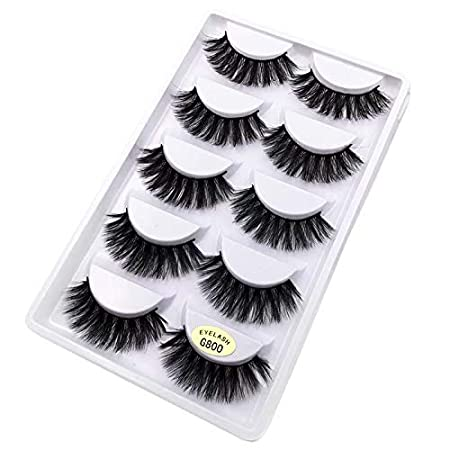 5 Pairs Natural Look Fake Eye Lash False Eyelashes Extension Makeup(G800) B
