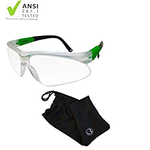 MAGNUS Safety Glasses Are z87.1 And EN166F Certified For High Impact, UVA/UVB Radiation, Anti-Fog, Chemical Splash Protection And Scratch Resistance.
