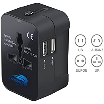Amazon Com Travel Converter Adapter Laeker Universal All In One Worldwide Travel Adapter Wall