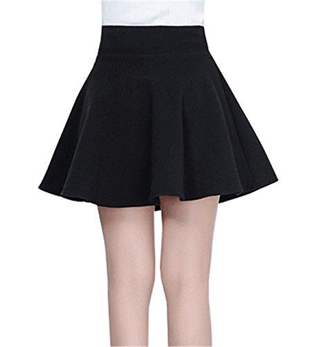 Para Mujer Liso Falda Negro Dabag YtzwOqE0xz