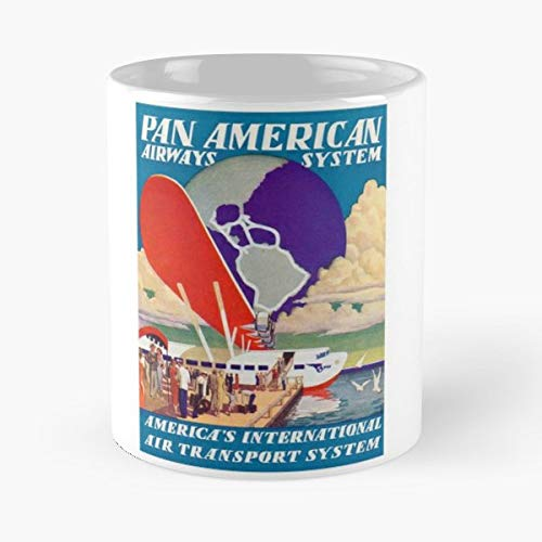 Pan American Airways Am Clipper Flying Boat - Best Gift Ceramic Coffee Mugs 11 Oz