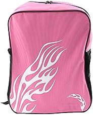 Roller Skates Portable Backpack Ice Skating Shoes Bag, Pink