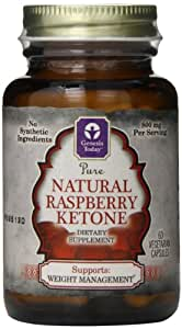 Genesis Nutrition Today Natural Raspberry Ketones Diet Supplement, 60 Count