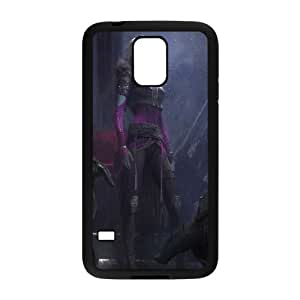 F1D00 destino funda caso F1I1LH funda Samsung Galaxy S5 teléfono celular cubren PS5GJD4SV negro