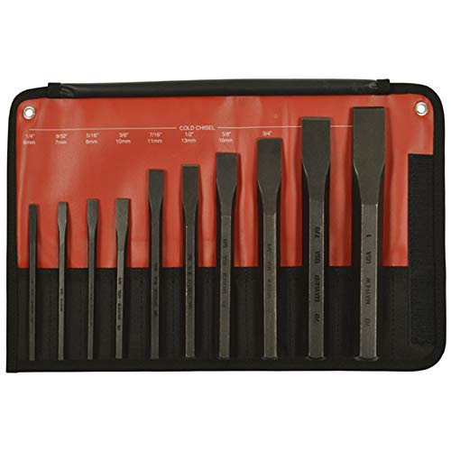 Mayhew Chisel - Mayhew 61510 10-Piece Hardened Steel Cold Chisel Set