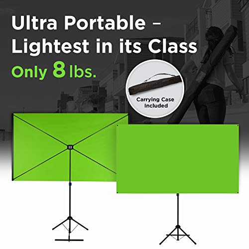 Valera Explorer 70 Inch Portable Green Screen for Streaming and Videos - Mounts on Tripod and Wall | Only 8 lbs | 2 min Setup | 16:9 Format | ChromaBoost Fabric with High Vibrancy for Low Lighting by On the Go Screens (Image #3)