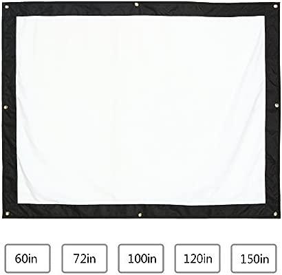 Pantalla para Proyector, Pantalla de Proyección Plegable Portátil Pantalla de Cine 60/72/100/120/150 pulgadas 16: 9/4: 3 para Cine Casa Accesorios ...