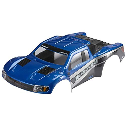Body Painted Pre (PROLINE 336613 Pre-Painted Flo-Tek Ford F-150 Raptor SVT Body Vehicle Part, Blue/Stealth)