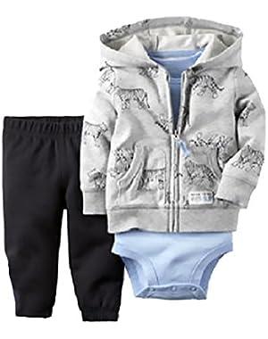 Carters Baby Boys, 3 Piece Set, Grey 18 months