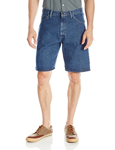 Wrangler Authentics Men's Big & Tall Classic Relaxed Fit Five Pocket Jean Short, Stonewash Dark, 33
