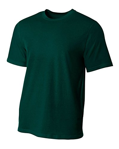 A4 Men's Fusion Cotton Short Sleeve Tee, Forest, XX-Large