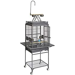 MidWest Homes for Pets Nina Bird Cage-Platinum Play Top