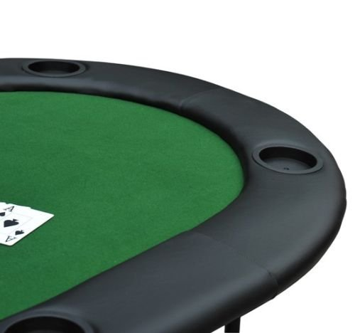 New MTN-G Foldable 8 Player Poker Blackjack Table Padded 2 in 1 w/ Cup Holders