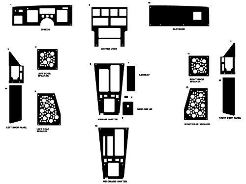 - Rdash Dash Kit Decal Trim for Chevrolet Corvette 1984-1989 - Wood Grain (Burlwood Honey)