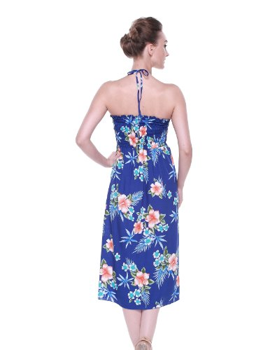 Hawaii Hibiscus Hangover Blue Butterfly Dress Hawaiian Women's rqrdXw7gx