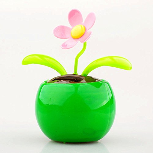 Excellent.advanced Flip Flap Flowerpot Swing Solar Powered Moving Dancing Flower Sunflower Car Decor Happy Toy Dashboard Office Desk Gift Ornaments Home Decorating Display Plants